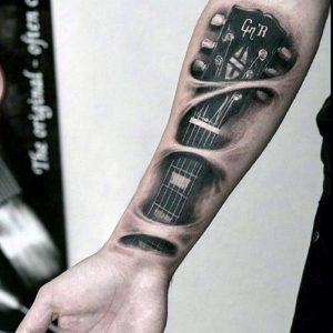 01-mens-music-tattoo-on-forearm