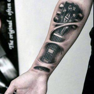 01-mens-music-tattoo-on-forearm
